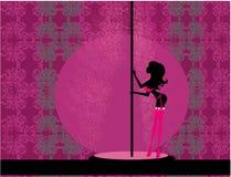 Dança fêmea 'sexy' do pólo ilustração royalty free