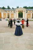 Dança Fancy-dress na propriedade de Arhangelskoe Foto de Stock Royalty Free
