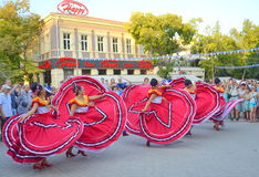 Dança feliz Foto de Stock Royalty Free