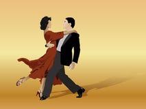 Dança feliz dos pares Fotos de Stock Royalty Free