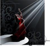 Dança - flamenco Imagem de Stock