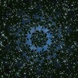 Dança galáctica da estrela no universo ilustração stock