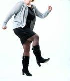 Dança gorda da mulher Fotografia de Stock