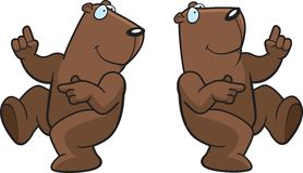 Dança Groundhog Imagens de Stock Royalty Free
