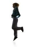 Dança hip-hop do adolescente sobre o branco Fotos de Stock