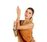 Dança indiana da menina Imagens de Stock