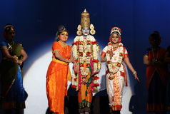 Dança indiana - senhor Balaji Fotos de Stock Royalty Free