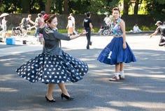 Dança japonesa no parque de Yoyogi, Japão Imagens de Stock