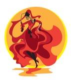 Dança Latin ilustração stock