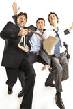 Dança louca dos homens de negócios Fotografia de Stock Royalty Free