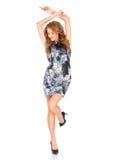 Dança loura bonita da mulher Imagens de Stock Royalty Free