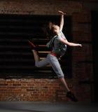 Dança loura nova da menina Imagem de Stock Royalty Free
