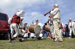 Dança masculina tradicional de Gorani foto de stock royalty free