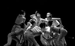 Dança moderna chinesa do grupo Fotografia de Stock Royalty Free