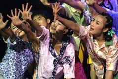 Dança moderna chinesa do grupo Fotos de Stock