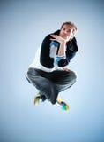 Dança moderna de homem novo Fotografia de Stock Royalty Free