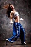 Dança moderna de mulher nova Fotos de Stock Royalty Free