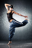Dança moderna de mulher nova Imagens de Stock Royalty Free