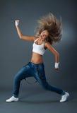 Dança moderna do jazz fêmea da dança fotografia de stock royalty free