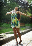 Dança na chuva Imagens de Stock Royalty Free