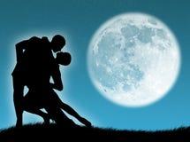 Dança na lua ilustração stock