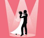Dança na luz do ponto ilustração stock