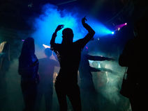Dança na névoa Fotos de Stock