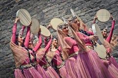 Dança nacional de Azerbaijan fotos de stock royalty free