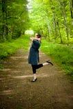Dança nas madeiras Imagens de Stock Royalty Free