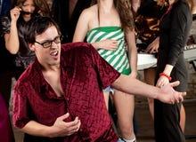 Dança Nerdy do homem Imagem de Stock Royalty Free