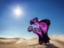 Dança no deserto Fotos de Stock