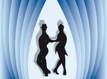 Dança no fundo Fotos de Stock Royalty Free