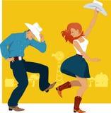 Dança ocidental do país ilustração royalty free