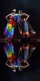 Dança popular chinesa: Gosto da vila de Yi Imagens de Stock Royalty Free