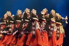 Dança popular chinesa: meninas Fotos de Stock