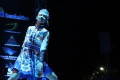 Dança popular de China em EIFAF 2017 fotografia de stock