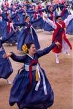 Dança popular de Coreia Fotografia de Stock Royalty Free