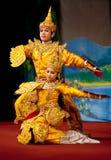 Dança popular de Myanmar Fotografia de Stock Royalty Free