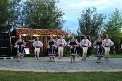 Dança popular em Bulgária Fotos de Stock