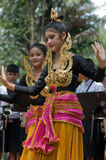 Dança popular tailandesa Imagem de Stock Royalty Free