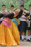 Dança popular tailandesa Fotografia de Stock