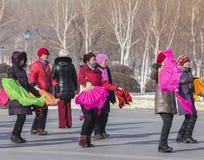 Dança quadrada em China do nordeste Fotos de Stock