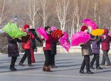 Dança quadrada em China do nordeste Foto de Stock