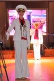 A dança que o bullseye executou por dançarinos, atores do marinheiro do trupe do auditório do estado de St Petersburg imagens de stock royalty free