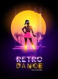 Dança 1980 retro do ` s ilustração royalty free