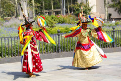 Dança ritual de Bhutan Fotos de Stock