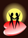 Dança romântica Fotografia de Stock Royalty Free