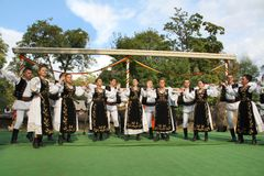 Dança romena do círculo Imagem de Stock Royalty Free