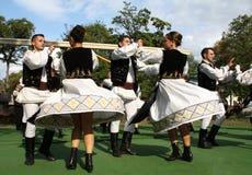 Dança romena tradicional Fotos de Stock