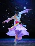 Dança saia-nacional colorida de voo Fotografia de Stock